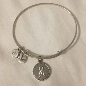Silver M Initial Alex And Ani